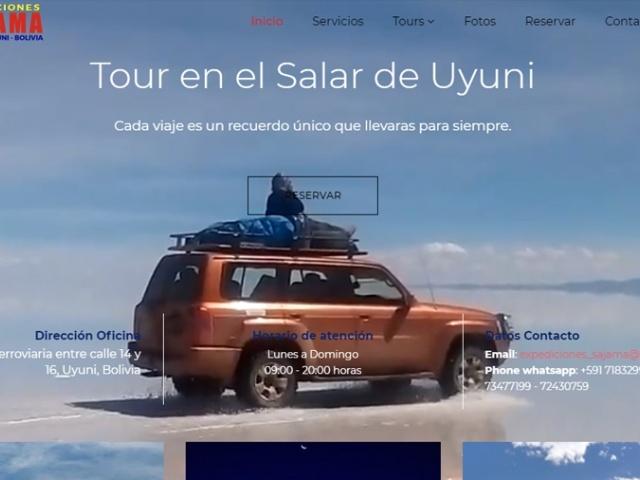 Sitio Web para agencia de Turismo Sajama Expediciones de Uyuni - Bolivia